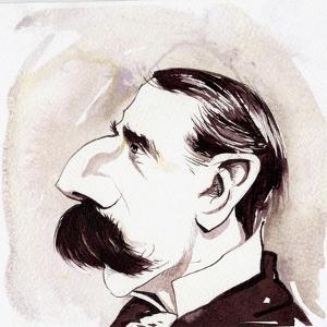 Edward Elgar - caricature of the English composer by Neale Osborne