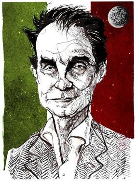 Italo Calvino - caricature by Neale Osborne