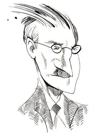 James Joyce - caricature of Irish writer