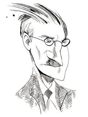 James Joyce - caricature of Irish writer by Neale Osborne