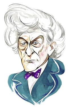 Jon Pertwee as Doctor Who in BBC television series of same name by Neale Osborne
