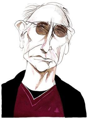 Larry David - caricature of American comedy writer, actor and producer, born 1947 by Neale Osborne