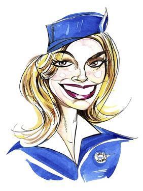Margot Robbie - caricature of Australian actress, born 1984 by Neale Osborne