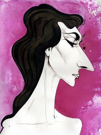 Maria Callas - caricature of the American born Greek opera singer