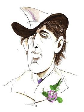 Oscar Wilde - caricature of Irish writer by Neale Osborne