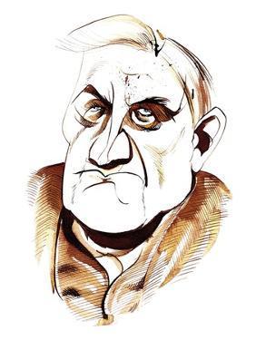 Ralph Vaughan Williams - caricature by Neale Osborne