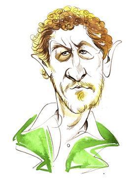 Sebastian Faulks - caricature by Neale Osborne