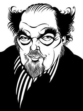 Sir Peter Hall - caricature of the English theatre and film director by Neale Osborne