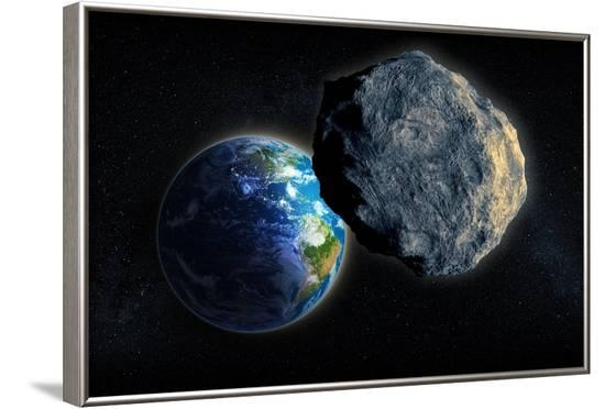 Near-Earth Asteroid, Artwork--Framed Photographic Print