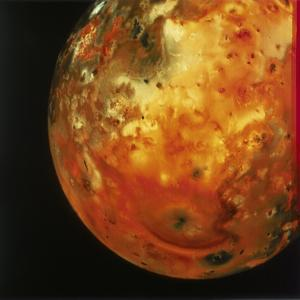 Nearly Full View of Io, One of the Moons of Jupiter, 1979