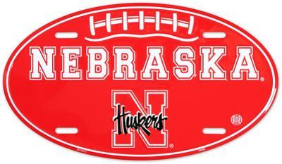 Nebraska Huskers Oval License Plate