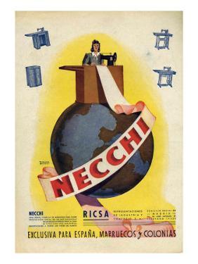 Necchi, Magazine Advertisement, Spain, 1942