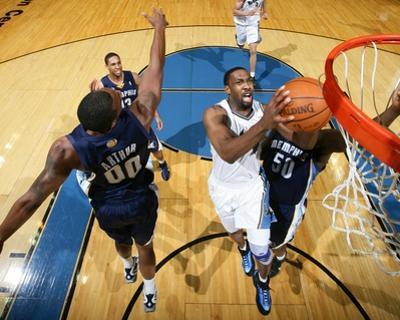 Memphis Grizzlies v Washington Wizards: Gilbert Arenas and Darrell Arthur by Ned Dishman