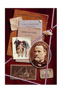 A Painting Pays Tribute to Biologist Louis Pasteur by Ned M. Seidler