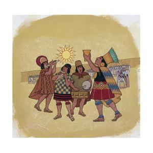 Inca Priests Offer Corn Beer to the Sun by Ned M. Seidler
