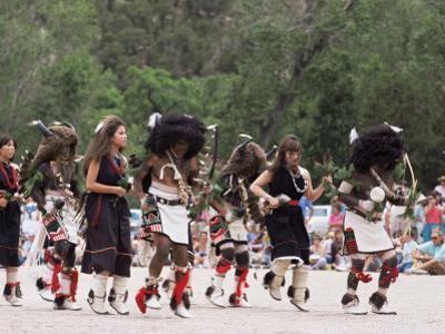Buffalo Dance Performed by Indians from Laguna Pueblo on 4th July, Santa Fe, New Mexico, USA