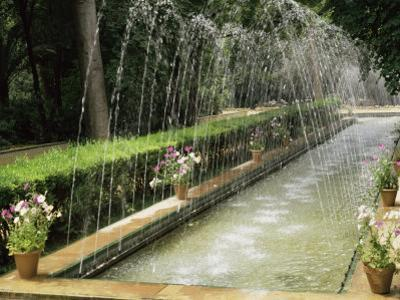 Fountains in Maria Luisa Park, Seville, Andalucia, Spain