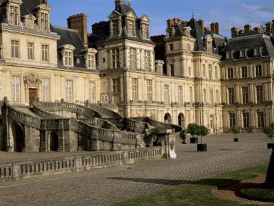 Horseshoe Staircase Dating from 1632-1634, Chateau of Fontainebleau, Seine-Et-Marne