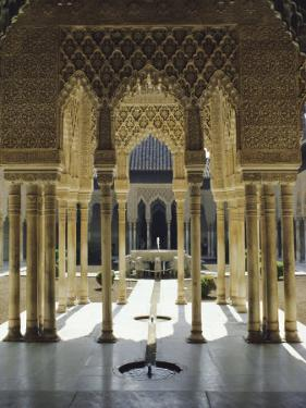 Moorish Architecture of the Court of the Lions, the Alhambra, Granada, Andalucia (Andalusia), Spain by Nedra Westwater