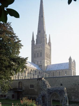 Norman Cathedral, Dating from 11th Century, with 15th Century Spire, Norwich