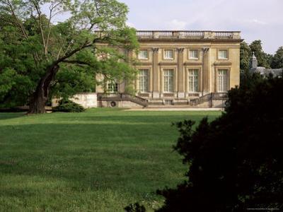 Petit Manoir from Gardens, Chateau De Versailles, Unesco World Heritage Site, Ile De France, France