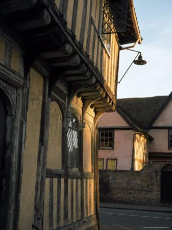 Tudor Shops and Priory Farm, Lavenham, Suffolk, England, United Kingdom