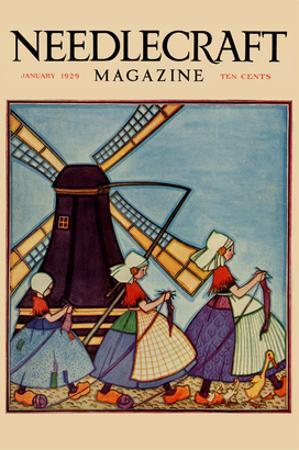 Dutch Girls Knitting
