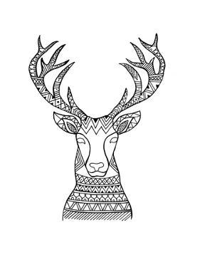 Animal Head Deer 1 by Neeti Goswami