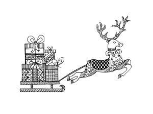 Christmas Reindeer by Neeti Goswami