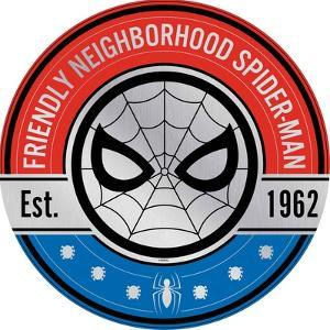 Neighborhood Spider-Man Tin Sign with Knock Out