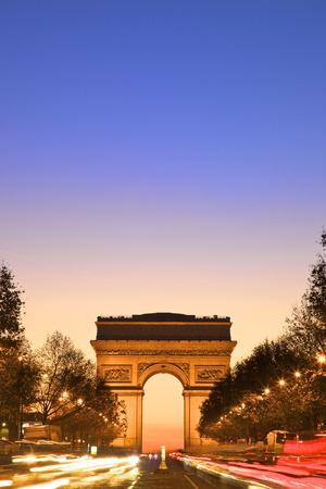 Arc De Triomphe at Dawn, Paris, France, Europe
