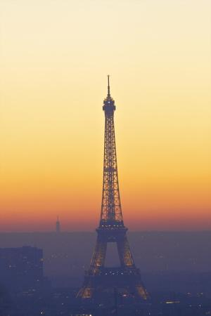 Eiffel Tower at Sunset, Paris, France, Europe