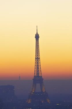 Eiffel Tower at Sunset, Paris, France, Europe by Neil