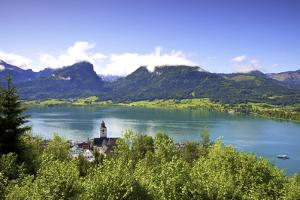 A Ferry Boat on Wolfgangsee Lake, St. Wolfgang, Austria, Europe, by Neil Farrin