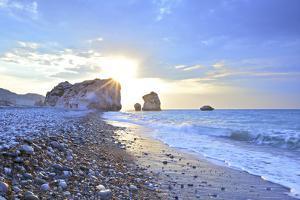Aphrodite's Rock, Paphos, Cyprus, Eastern Mediterranean Sea by Neil Farrin