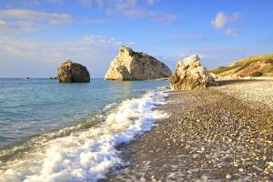 Aphrodites Rock, Paphos, Cyprus, Eastern Mediterranean Sea, Europe by Neil Farrin