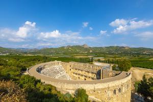Aspendos Amphitheatre, Antalya, Turkey Minor, Eurasia by Neil Farrin