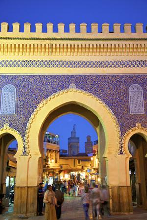 Bab Boujeloud Gate, Fez, Morocco, North Africa by Neil Farrin