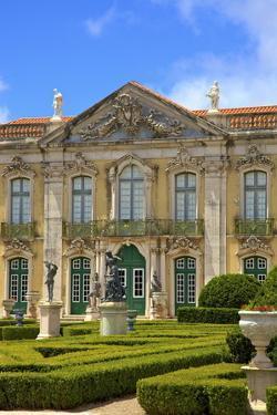 Ceremonial Facade, Palacio De Queluz, Lisbon, Portugal, South West Europe by Neil Farrin
