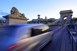 Chain Bridge, Budapest, Hungary, Europe by Neil Farrin