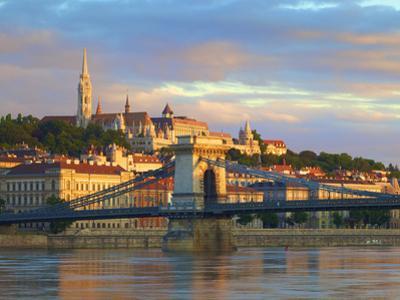 Chain Bridge, Matyas Church and Fisherman's Bastion, Budapest, Hungary by Neil Farrin