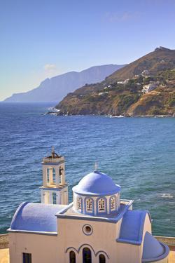Church at Kantouni, Kalymnos, Dodecanese, Greek Islands, Greece, Europe by Neil Farrin