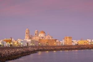 Church of Santa Cruz and Cathedral, Cadiz, Cadiz Province, Andalucia, Spain, Europe by Neil Farrin