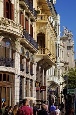 City Streets, Valencia, Spain, Europe by Neil Farrin