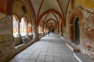 Cloisters in the Dome Cathedral, Riga, Latvia by Neil Farrin
