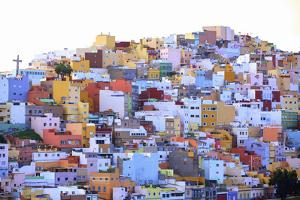 Colourful Buildings in the San Juan District, Las Palmas de Gran Canaria, Gran Canaria, Canary Isla by Neil Farrin