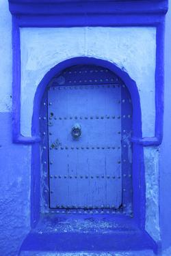 Door, Chefchaouen, Morocco, North Africa by Neil Farrin