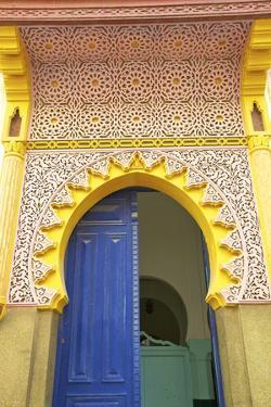 Entrance to Mosque, Tangier, Morocco, North Africa, Africa by Neil Farrin