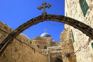 Ethiopian Monastery and Church of the Holy Sepulchre, Old City, Jerusalem, Israel, Middle East by Neil Farrin