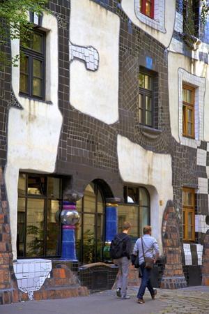 Exterior Kunsthaus Wien Hundertwasser Museum, Vienna, Austria, Central Europe by Neil Farrin